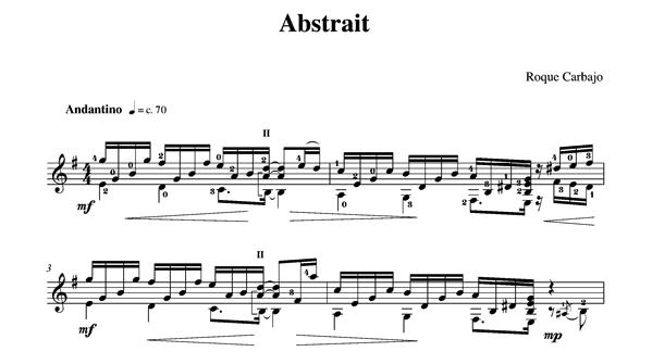 Abstrait guitare seule partition