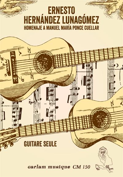homenaje a manuel maria ponce cuellar guitare seule couverture