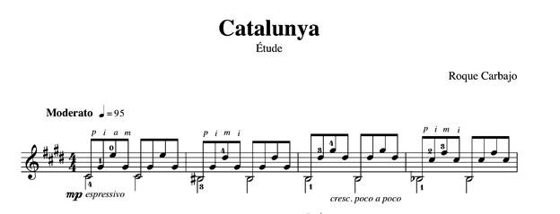 Catalunya guitare seule partition