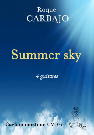 summer sky 4 guitares couverture