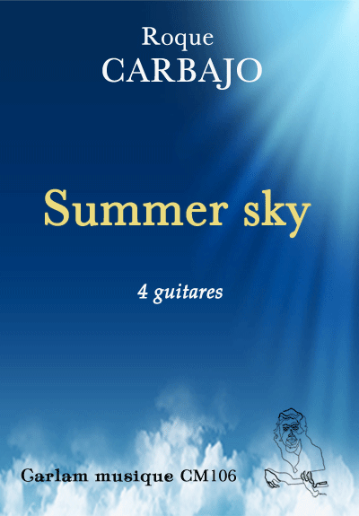 summer sky 4 guitares couverture