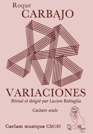 Variaciones guitare seule version lucien battaglia couverture