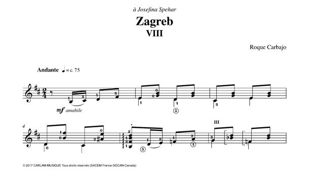 Zagreb guitare seule partition