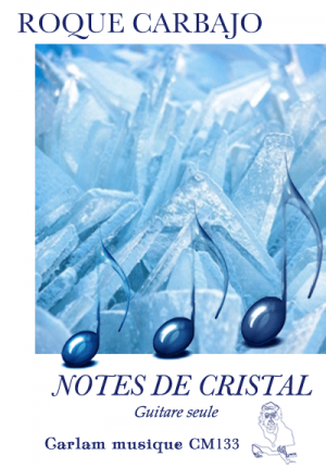 Notes de cristal guitare seule couverture