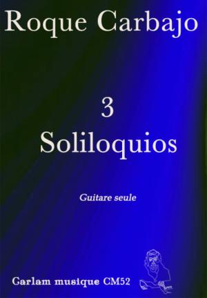 3 soliloquios guitare seule couverture