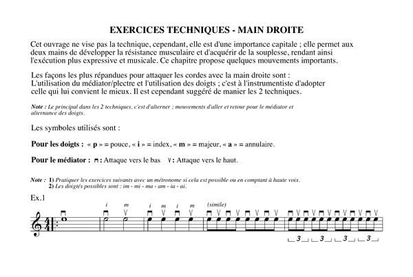 Méthode harmonisation et improvisation, Chapitre 15 Exercices techniques-main droite