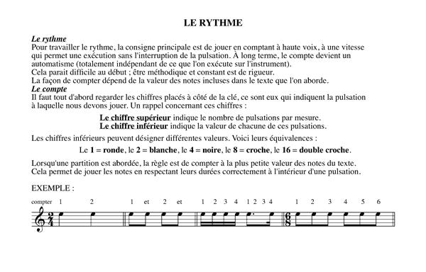 Méthode harmonisation et improvisation, Chapitre 17 Le rythme