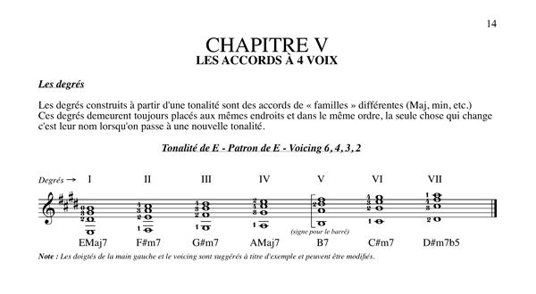 Méthode harmonisation et improvisation, Chapitre 5 Les degrés à 4 voix