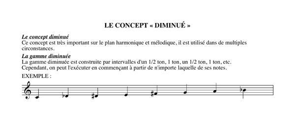 Méthode harmonisation et improvisation, Chapitre 8 Le concept diminué