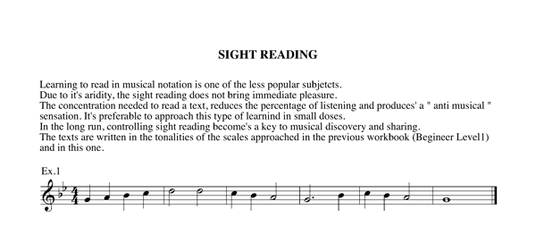 Workbook level 2 Chapter 4 sight reading