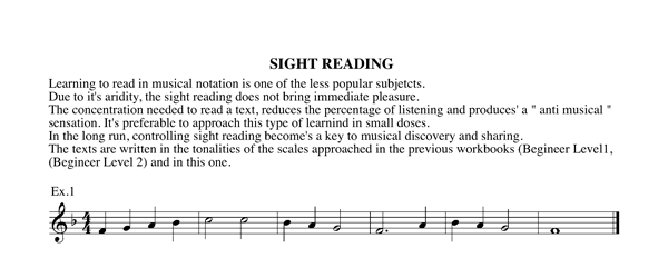 Workbook level 3 Chapter 4 sight reading