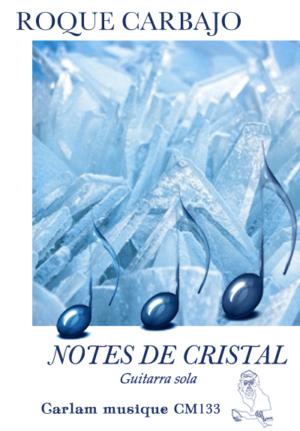 Notes de cristal guitarra sola portada