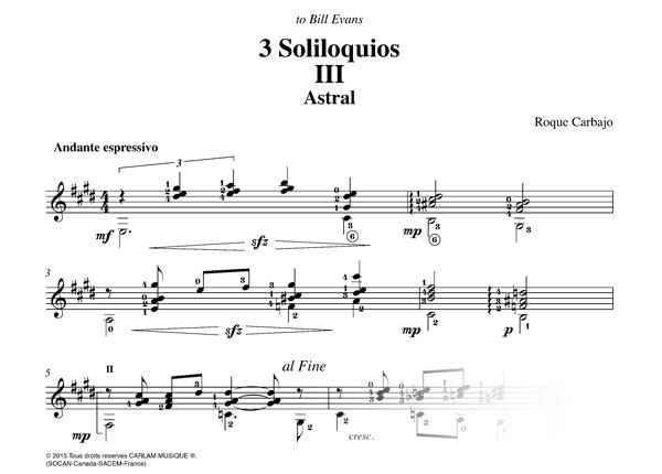 Astral solo guitar score