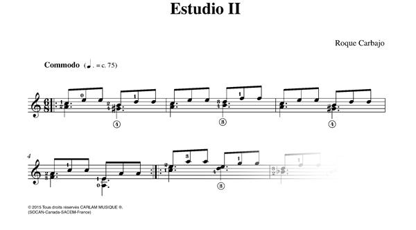 Estudio 2 solo guitar score