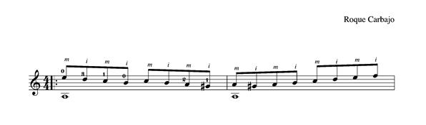 Étude 2 en la mineur solo guitar score