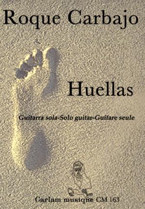 Huellas guitarra sola notación musical portada