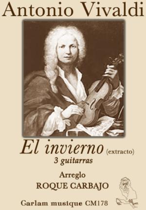 El invierno adaptación 3 guitarras portada