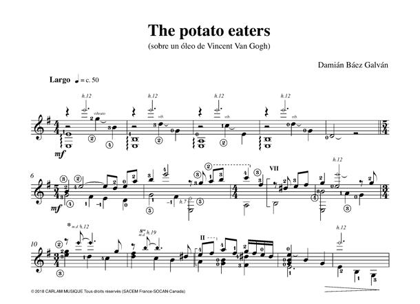The potato eaters solo guitar score
