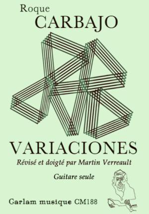 Variaciones guitare seule version Martin Verreault couverture